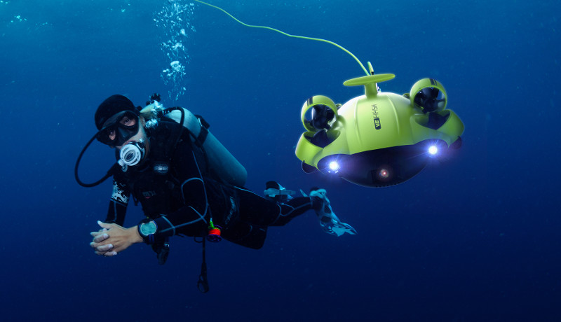 fil robot sous marin
