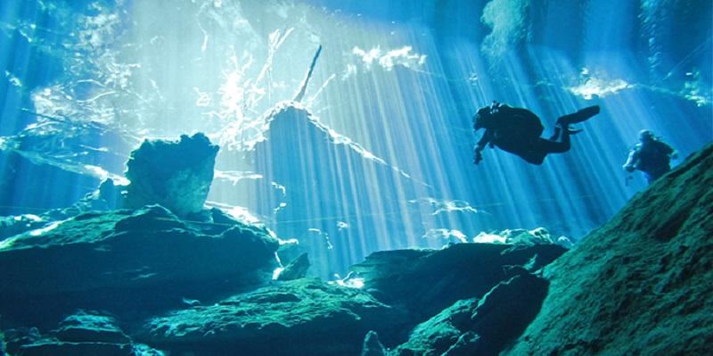 photo hd du site de plongée sous marine Cenote Chak Mool ou Kukulkan