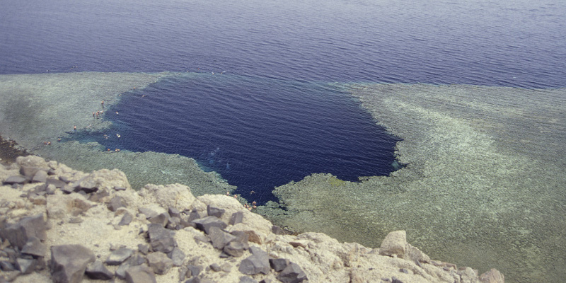 Blue hole from Dahab in Egypt