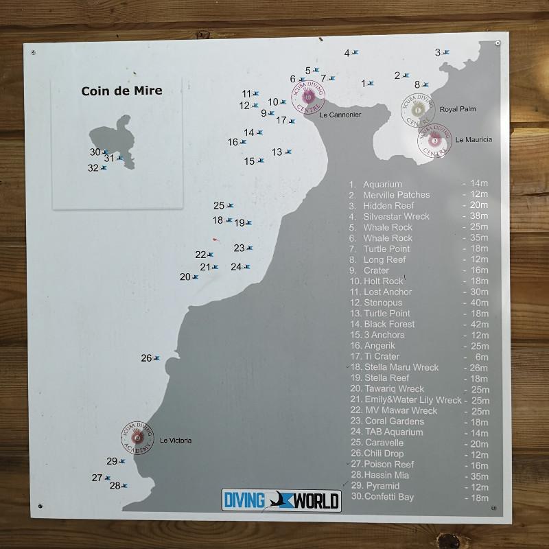 site de plongée maurice