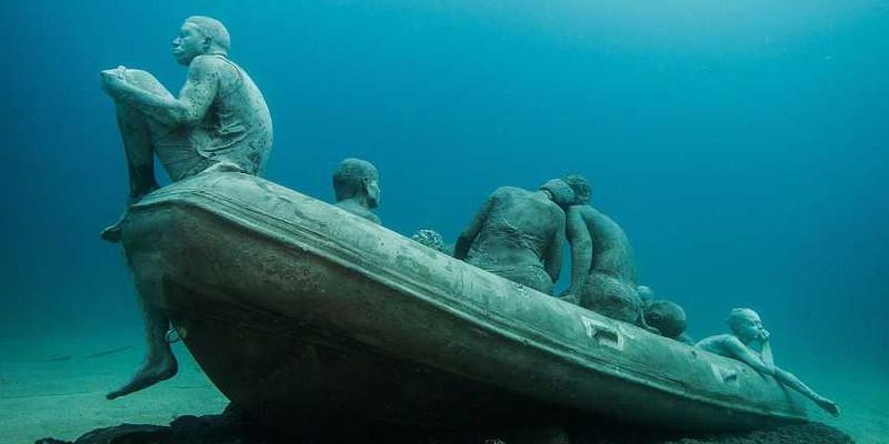 Le radeau de Lampedusa, musée sous l'eau