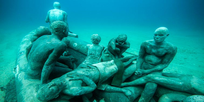 Le radeau de Lampedusa, musée aquatique