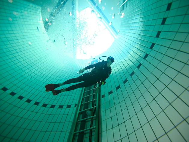 plongée piscine