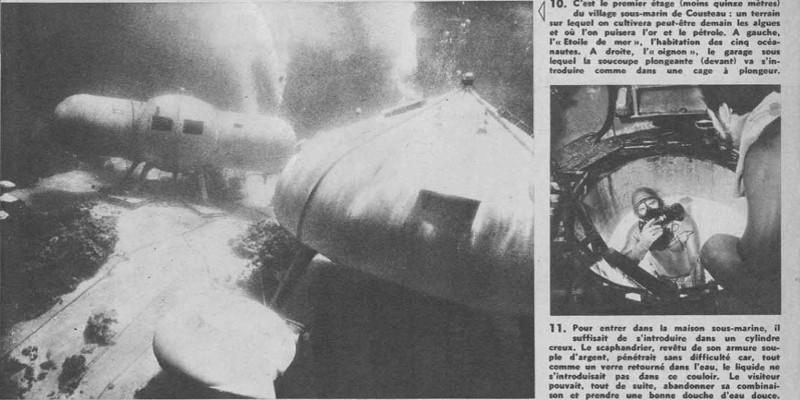 opération précontinent de Cousteau, journal