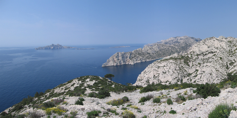 beautiful archipelago of Riou in Provence