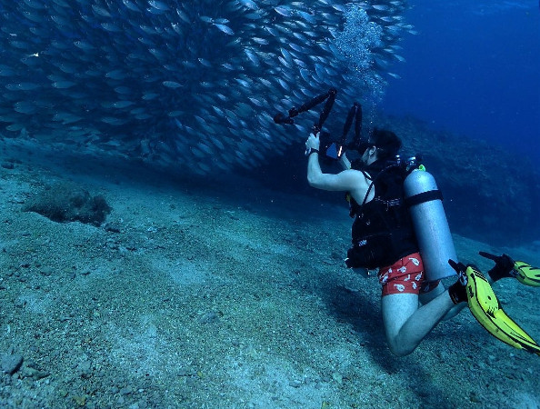 underwater camera scuba diving